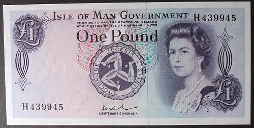Isle of Man P29d Pound UNC64