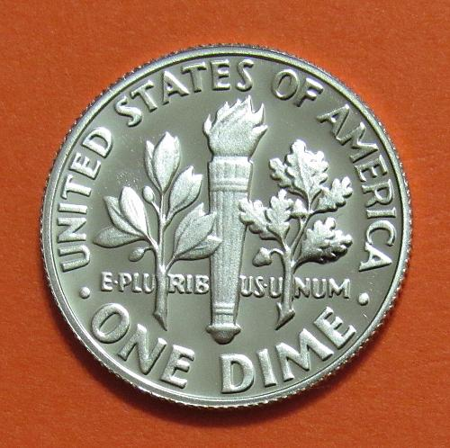 """1979-S 10 Cents - Roosevelt Dime - Type 1 - Filled """"S"""""""