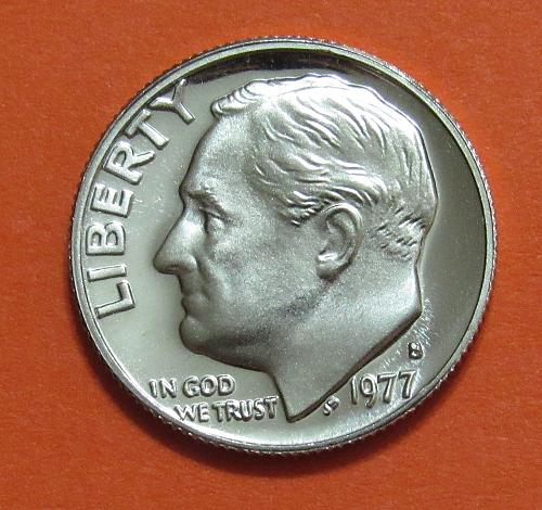 1977-S 10 Cents - Roosevelt Dime - Proof Like