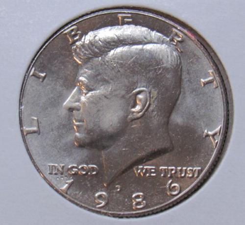 1986 D & 1986 P Kennedy Half Dollars