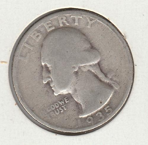 1935 P Washington Quarters - #2 90% Silver