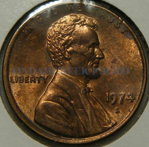 1974-S Lincoln Cent Obverse Die Variety Mint Mark Style Set