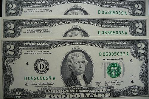 (3) 2003-A   $2.00 F R Notes