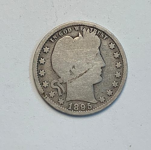 1895 Barber Quarter [BSWQ 7]