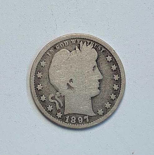 1897 Barber Quarter [BSWQ 10]