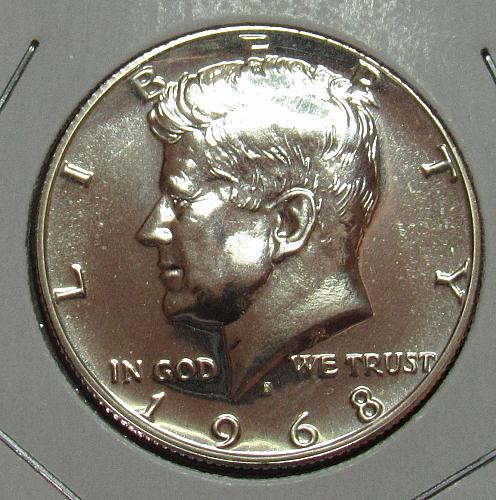 1968 S Proof Kennedy Half Dollar