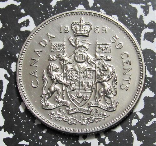 1969 Canada - 50 Cents - Coat of Arms - Uncirculated