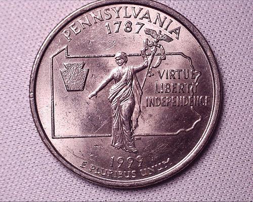 1999 P Pensylvania Quaters