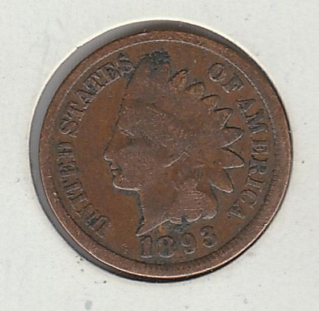 1893 P Indian Head Cent Small Cents -- 2