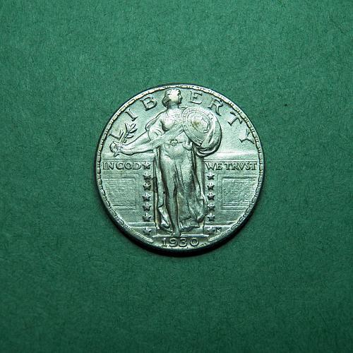 1930 P Standing Liberty Quarter AU Coin   s91