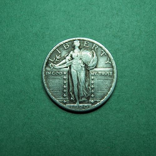 1920 P Standing Liberty Quarter Very Fine Coin   s96