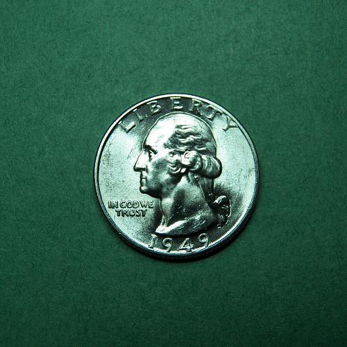 1949 P Washington Quarter Brilliant Uncirculated Coin   s99