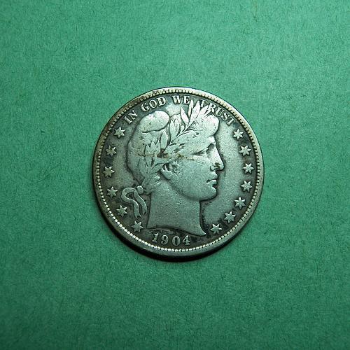 1904 P Barber Half Dollar Fine Coin   t06