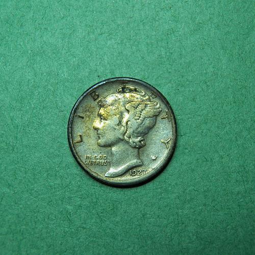 1927 S Mercury Dime   t16