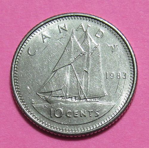 1983 Canada 10 Cents - Bluenose Scooner