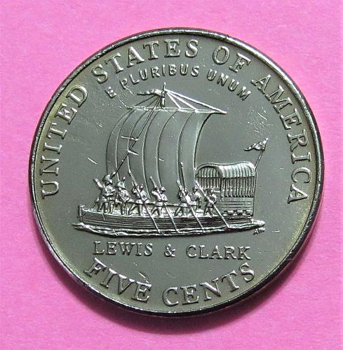 2004-P 5 Cents - Jefferson Nickel - Keelboat - Lewis & Clark Expedition