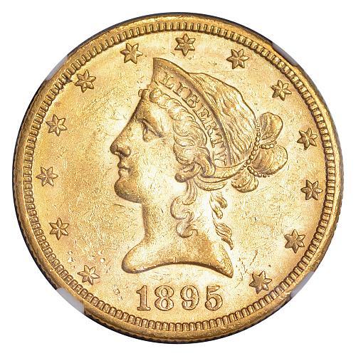 $10.00 1895-O Gold $10 Ten Dollar Eagle - NGC MS61