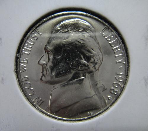 1968-D Jefferson Nickel MS-65 (GEM) Strong Strike with BOLD LUSTER!
