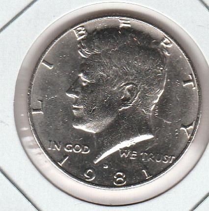 1981 D Kennedy Half Dollars - #2