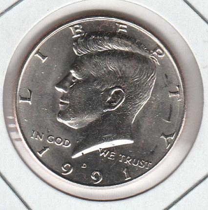 1991 D Kennedy Half Dollars - #2