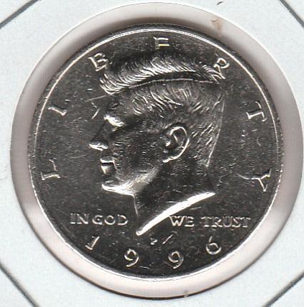 1996 D Kennedy Half Dollars - 2