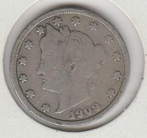 1909 P Liberty Nickels - #2