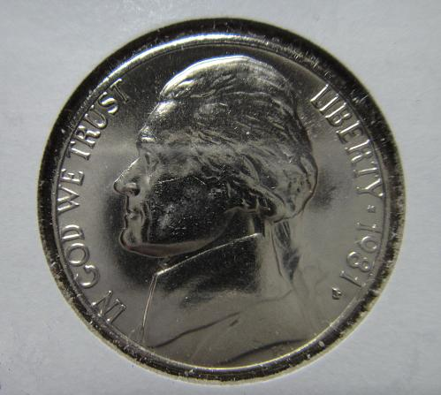 1981-P Jefferson Nickel MS-65 (GEM) SHARP STRIKE!