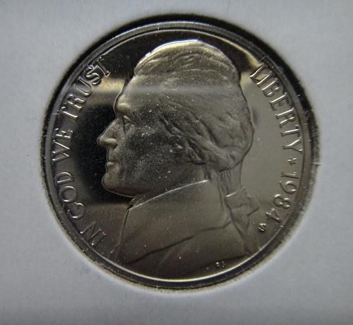 1984-S Jefferson Nickel Proof-66 (GEM+) Full Steps=6 SHARP STRIKE!