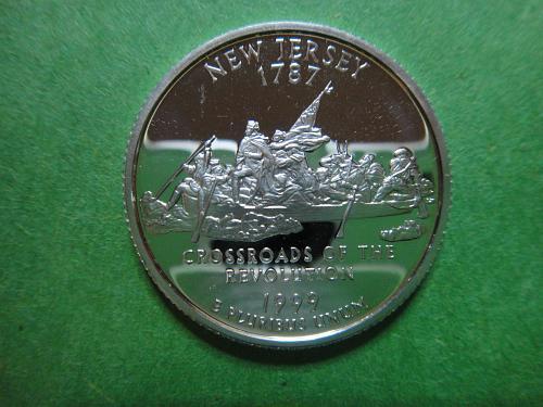 Statehood Quarter 1999-S New Jersey SILVER Proof-65 (GEM)