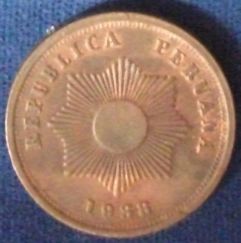 1938 Peru 2 Centavos AU