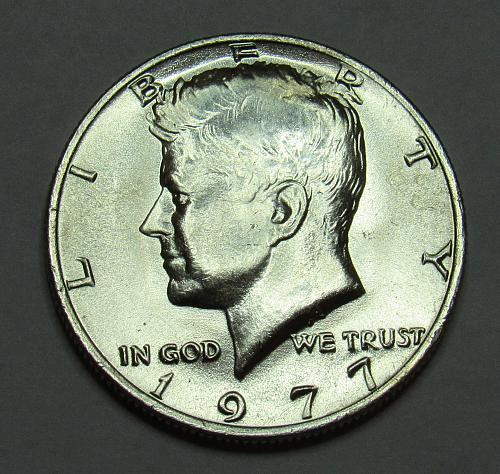 1977 P Kennedy Half Dollar in BU condition