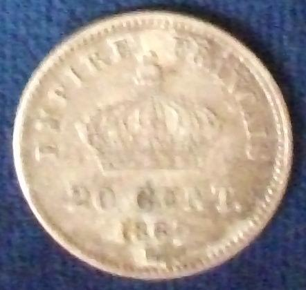 1867BB France 50 Centimes XF