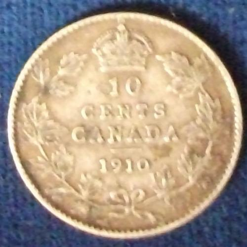 1910 Canada 10 Cents Fine