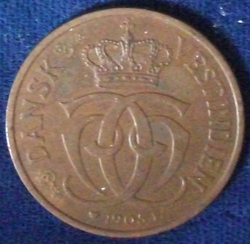1905(h) Danish West Indies 2 Cents AU