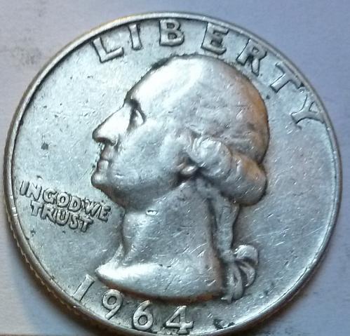 1964-D VERY FINE Washington Quarter VF # (831)