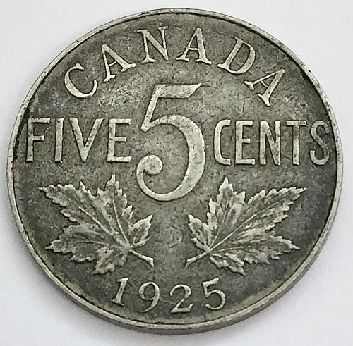 1925 5 Cents - Canada
