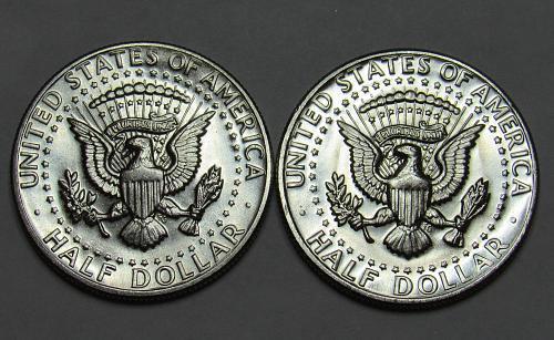 1971 P&D Kennedy Half Dollars in BU condition