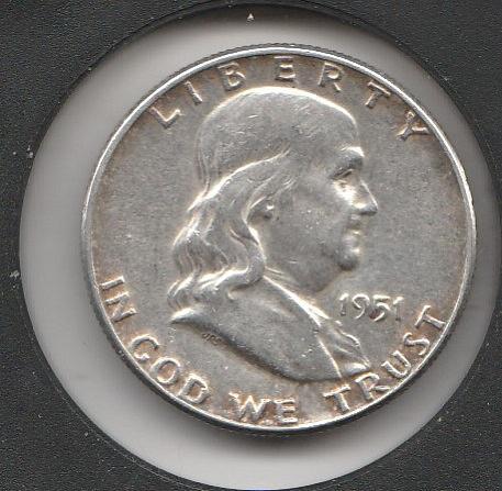 1951 P Franklin Half Dollars - #2