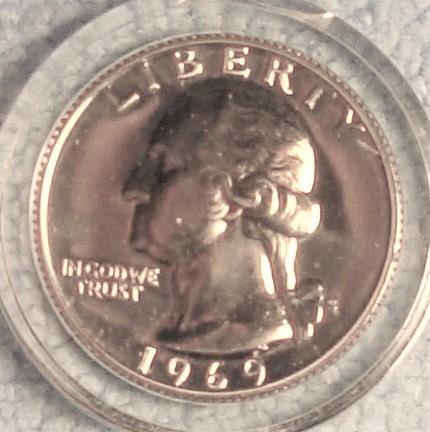 1969 S Washington Quarter Choice Proof