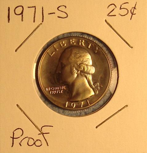 1971 S Washington Quarter Choice Proof