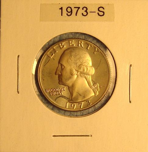 1973 S Washington Quart Proof