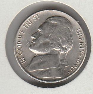 1990d Jefferson Nickel #2