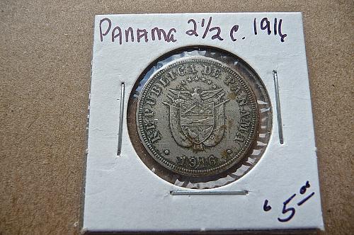 Panama  1916      2 1/2 centesimo