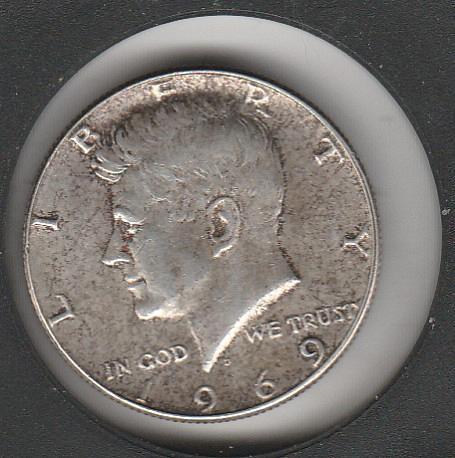 1969 D Kennedy Half Dollars - #2