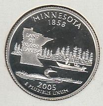 2005 S Minnesota 50 States and Territories Quarters: Silver Proof - #2
