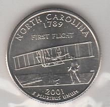 2001 P BU North Carolina Washington Quarter #2