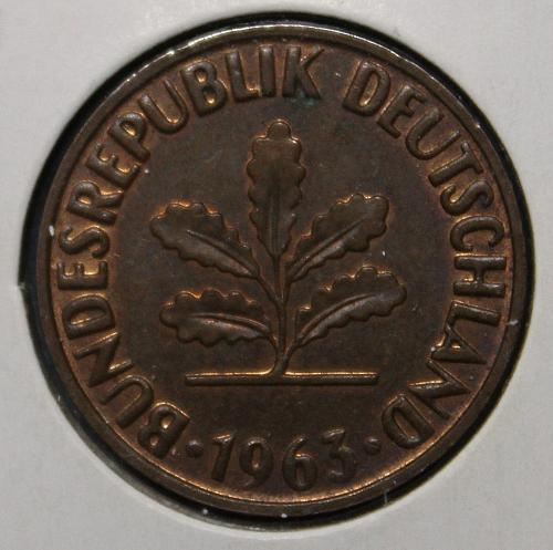 Germany (Federal Republic) 1963J 2 pfennig
