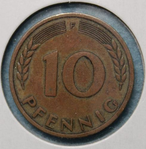 Germany (Federal Republic) 1950F 10 pfennig