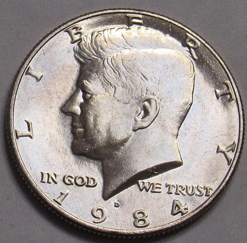 1984 D Kennedy Half Dollar in BU condition