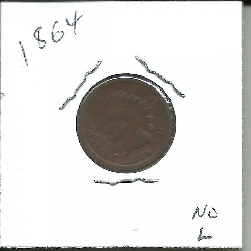 1864 P Indian Head Cent